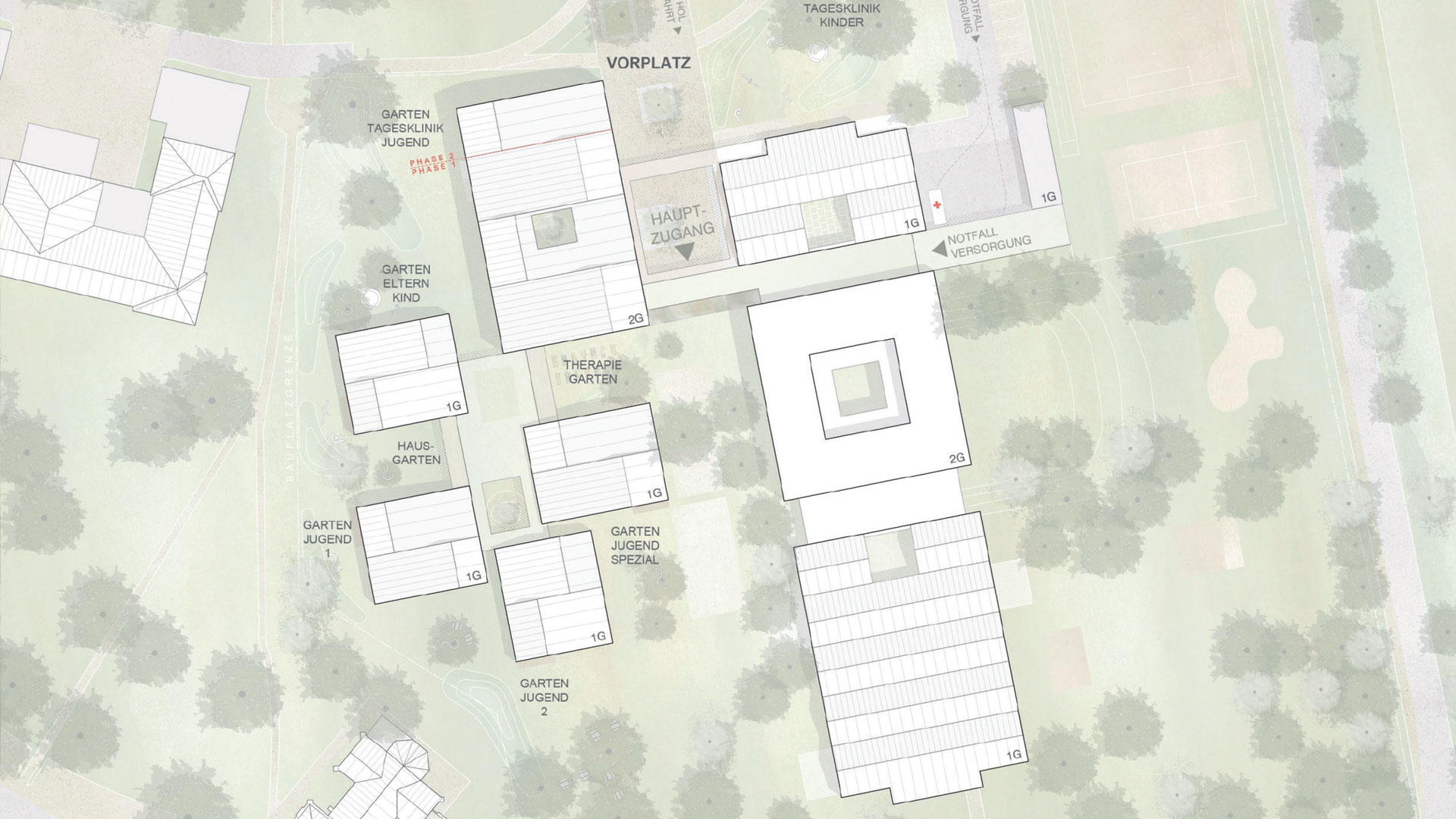 Erweiterung der Kinder- und Jugendpsychiatrie LKH Graz II, Standort Süd